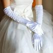 Weiß Volle finger Warm Taft Gerüscht Dicke Hochzeit Handschuhe