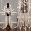 Spitze Hochzeitskleid Langarm Mantel Braut Schal Cape Mantel
