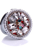 Luxuriöse Kreis Intarsien diamond Faltung Cartoon kleine Spiegel & Kamm