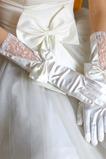Transluzent Volle finger Glamouröse Spitze Frühling Hochzeit Handschuhe
