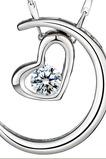 Plating Heart-shaped Dekoration heißer Verkauf & Anhänger Halskette Silber