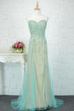 Schatz A Linie Bodenlänge Natürliche Taille Abperleffekt Abendkleid