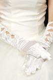 Warm Satin Volle finger Herbst Geeignete Weiß Hochzeit Handschuhe