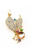 Großhandel Frauen Intarsien Diamond neue Stil Kristall Pin Brosche