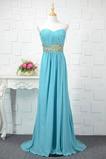 Fegen zug Lehnenlose Natürliche Taille Glänzendes Abendkleid