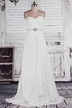 Ärmellos Schnüren Lange Elegante Invertiertes Dreieck Reich Brautkleid