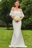 Schöne Mit geschlossenen Ärmeln Brautkleid mit kurzen Ärmeln