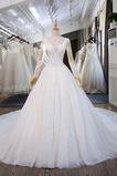 Königlicher Zug Natürliche Taille Trichter Klassische Brautkleid