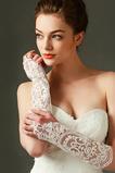 Elfenbein Frühling Spitze Handschuh Spitze Lange Hochzeit Handschuhe