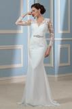 Illusionshülsen Spitze Reißverschluss Draussen Hochzeitskleid