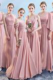 Tau Schulter Partei Natürliche Taille Ärmellos Brautjungfernkleid