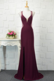Lange Elasthan Natürliche Taille Winter Frenal Backless Ballkleid