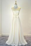 Ärmellos Bogen Trichter Chiffon Natürliche Taille Brautjungfernkleid
