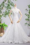Kapelle Zug Meerjungfrau Mit geschlossenen Ärmeln Brautkleid
