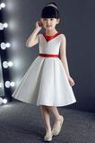 Trichter Taste Natürliche Taille Leistung Kleine Mädchen Kleid