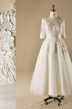 Formalen Sommer Prinzessin Draussen Knöchellänge Reißverschluss Brautkleid