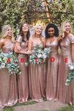 Natürliche Taille Drapiert Kurze Ärmel Lange Brautjungfer kleid