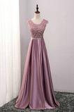 Fegen zug A Linie Natürliche Taille Schön Brautjungfer Kleid