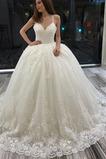 A Linie Hof zug Natürliche Taille Schöne Spitze Fallen Brautkleid
