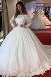 Reißverschluss Spitzenüberlagerung Tau Schulter Lange Brautkleid