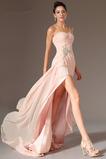 Trichter Eine Schulter Bördeln Sommer Ärmellos Klassische Abendkleid