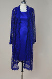 Anzug Lange Ärmel Natürliche Taille Illusionshülsen Mutterkleid mit bolero