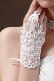 Sommer Spitze Bördeln Dekoration Weiß Handschuh Hochzeit Handschuhe