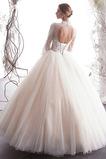 Bördeln Mehrschichtig Natürliche Taille Illusionshülsen Brautkleid