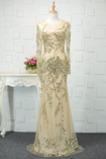 Natürliche Taille Reißverschluss Luxuriös Juwel akzentuiertes Mieder Abendkleid