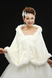 Kristall Blumenbrosche Lange Große Quadrate Weiß Ärmellos Hochzeit Schal