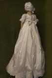 Hoch bedeckt Bogen Natürliche Taille Prinzessin Blumenmädchen kleid