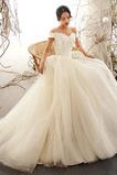 A Linie Elegante Mehrschichtig T Hemd Draussen Hochzeitskleid