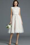 Spitzenüberlagerung Juwel Strand Glamourös Sommer Hochzeitskleid