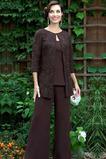 Winter Zwei Stück Natürliche Taille Knöchel Länge Mutter Kleid Anzüge
