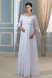 Reich Taille Reißverschluss Chiffon Gefaltete Mieder Winter Brautkleid