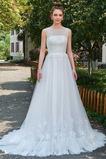 Lange Reißverschluss Einfach Winter Drapiert Natürliche Taille Brautkleid