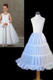 Einfach Elastische Taille Drei Felgen Kinder Kleid Hochzeit Petticoat