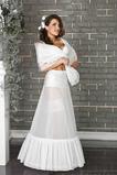 Zwei Felgen Meerjungfrau Flouncing Terylene Glamourös Weiß Hochzeit Petticoat