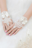 Sommer Spitze Kurze Schmetterlingsknoten Dekoration Hochzeit Handschuhe