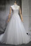 Klassisch Natürliche Taille Spitze Mehrschichtig Draussen Brautkleid