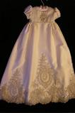 Laterne Hoch bedeckt Kurze Ärmel Natürliche Taille Blumenmädchen kleid