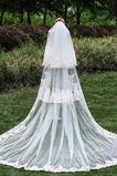 Neue Spitze dreischichtigen Schleier Großhandel Braut Schwanz Schleier Hochzeit Zubehör