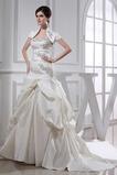 A Linie Mit Jacke Elegante Natürliche Taille Rückenlose Brautkleid