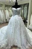 Lange A Linie Satiniert Natürliche Taille Mit geschlossenen Ärmeln Hochzeitskleid