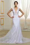 Hof zug Natürliche Taille Frühling Reiner zurück Hochzeitskleid