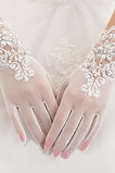 Weiß Volle finger Bördeln Sommer Dekoration Geeignete Hochzeit Handschuhe