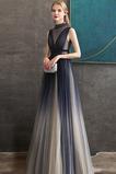 Drapiert Bodenlänge A Linie Perlengürtel Formalen Abendkleid
