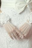 Herbst Elegant Volle finger Kurze Blume multifunktionale Hochzeit Handschuhe