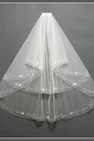 Größe angepasst werden kann Schick Mehrschichtige Frühling Hochzeitsschleier