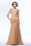 A Linie Natürliche Taille V-Ausschnitt Mutter der Braut Kleid